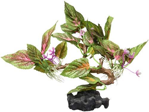 sourcing map Kunststoff Terrarium Blume Blätter Pflanze Unterwasser Ornament Landschaft für Reptilien DE
