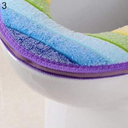 Homeofying bagno più caldo copriwater panno morbido closestool lavabile coperchio superiore copertura pad purple