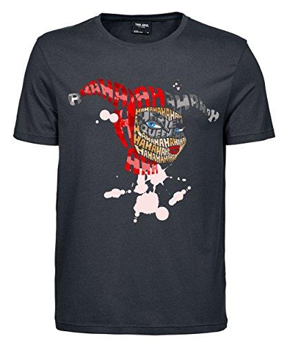 makato Herren T-Shirt Luxury Tee Haha Girl Dark Grey