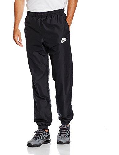 Nike Herren Sporthose Lang Season Pants Hose, Black/White, M (Woven Nike Herren Pant)