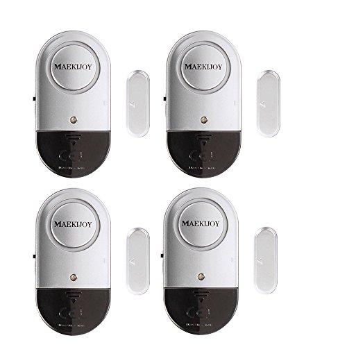 Alarme de fenêtre, 4 paquets Alarmes de porte et de fenêtre Fenêtre de porte de sécurité Fenêtre...