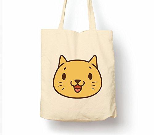 Cat Mood–Tasche, natur Einkaufstasche, umweltfreundlich Eco Friendly Cat Mood Excited