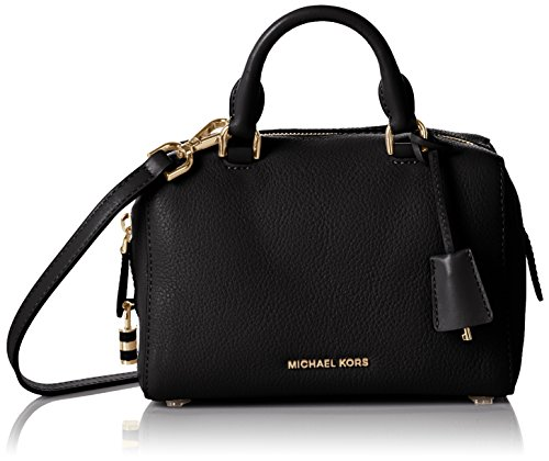 Bowling Bags Michael Kors Women Leather Black and Gold 30T6GK3S3LBLACK Black 16x20x31.5 cm