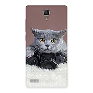 Special Kitty Photographer Multicolor Back Case Cover for Redmi Note Prime