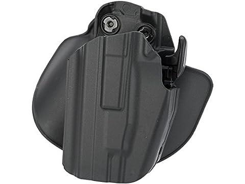 Safariland 578 7TS GLS Pro-Fit, Standard Frame, Sub-Compact Slide, Paddle Belt & Loop Holster, Plain Black, Left Hand by Safariland Duty