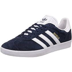 adidas Gazelle, Zapatillas de Deporte Unisex, Varios colores (Collegiate Navy/White/Gold Metalic), 46 EU