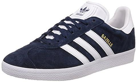 adidas Gazelle, Sneakers basses mixte adulte, Bleu (Collegiate Navy/White/Gold Met), EU40