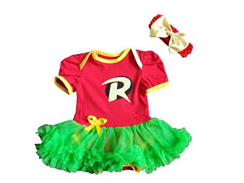 Robin 9-12 Monate Baby Kleinkind Mädchen Spielanzug Party Spiel Kleid Outfit (Teen Robin Kostüme)