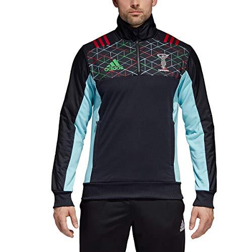 adidas Herren Harlequins Fleece Fleecejacke 1/2 Zip, Punjab, S - Adidas Fleece Rugby