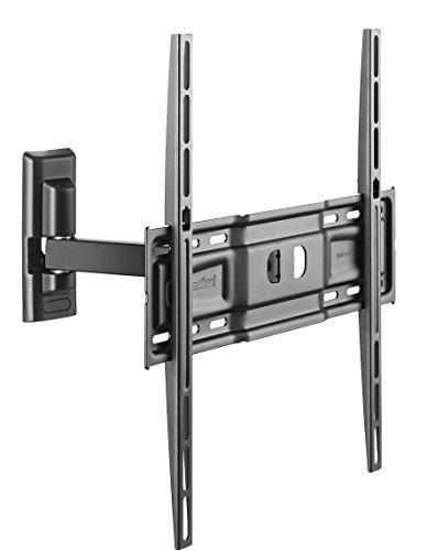Supporto TV CME ER 400 con braccio, Inclinazione (vert. max 25°, orizz. max 45°), Ideale per Tv a Schermo Piatto da 40 a max 65 pollici, VESA (in mm):  |200x200|300x200|300x300|400x300|400x200|400x400|, Made in Italy 100%, Nero