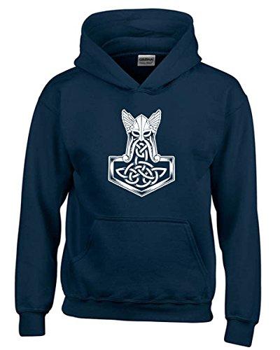T-Shirtshock - Felpa hoodie bambino T1060 thor hammer religioni celtic, Taglia 5-6anni