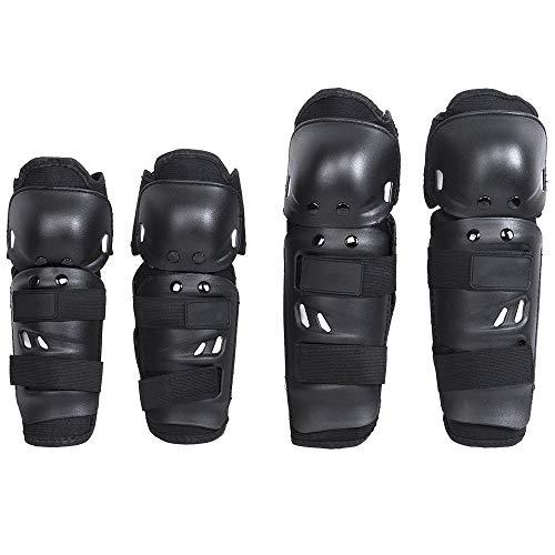 er Knieschützer unterstützen rutschfeste Schienbeinschoner schützen Rüstungsset für Motorrad-Mountainbiker und Fahrradfahrer ()