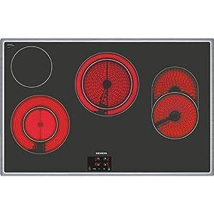 Siemens ET845HH17 hobs – Placa (Incorporado, Eléctrico, Vidrio y cerámica, Sensor, Frente, 220-240V) Negro