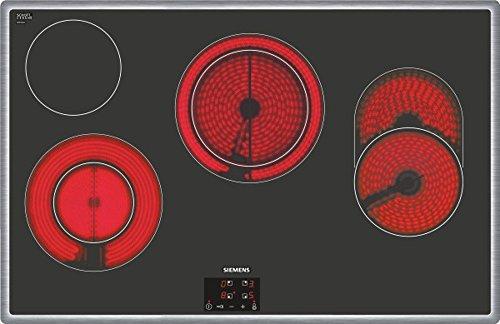 Siemens ET845HH17 iQ300 Kochfeld Elektro / 79.5 cm / touchControl-Bedienung / Digitales Funktionsdisplay / schwarz