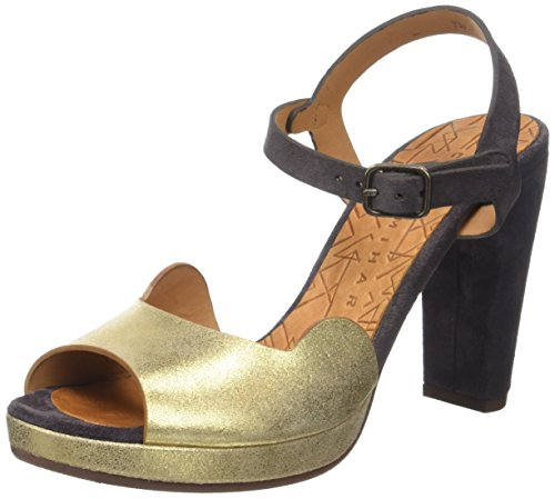 Chie Mihara Chispa, Sandales Plateforme Femme Or (Ante Metal Gold Jean Carbon)