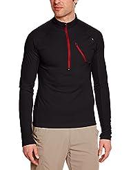 Millet Red Needles T-Shirt Zippé Manches Longues Homme