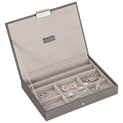 Stackers Jewellery Box | Classic Mink & Grey Velvet Stacker Deckel