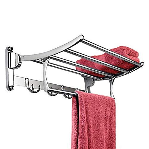 Plantex Pitru Stainless Steel Folding Towel Rack(24 Inch,Silver)