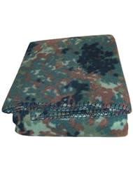 Couverture en coton motif camouflage armée ca.185 x 135 cm