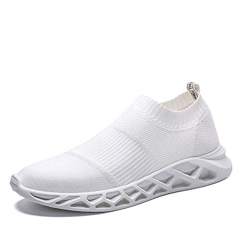 Men Shoes Summer 2019 Casual Shoes for Men Black White Male Sock Shoes Light Weight Slip On Loafers Men Trainers Shoes Beige 8 - 1 Dota