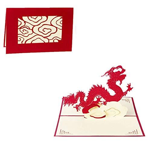 (Vazan - Papier Laser schneiden 3D-Karten Pop-up Vintage Flugzeug Geschenke Postkarte Geburtstag Vatertags-Grußkarten mit Umschlag carte postale [2])