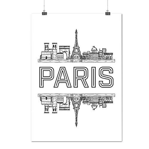 Kostüm Weiblich Frankreich (Paris Stadt Entwurf Frankreich Symbol Mattes/Glänzende Plakat A3 (42cm x 30cm)  )