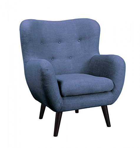 Dreams4Home Loungesessel 'Brixton' - Sessel, Kuschelsessel, Wohnzimmer, Polstersessel, Gästezimmer, Wellenfederung, Stellmaß BxT: 91 x 83 cm, in...