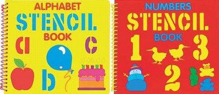 Letters / Numbers Stencil Spiral Bound Board Book 2 PER PACK (A757)