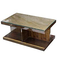 The Mumbai Art Commercial Plywood Coffee Table with 8mm Beveled GlassThis is our attractive and practical coffee table, which is an ideal partner when you enjoying a book and a cup of coffee.Product Dimensions: Length : 36 Inch (91cm)   Width : 2...