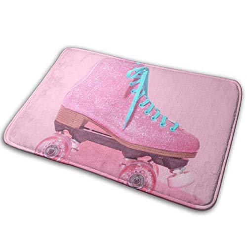 didian Welcome Doormat, Entrance Floor Mat Rug Indoor Outdoor Front Door Mat with Non-Slip Rubber Backing, Printing Doormats with Roller Skating, 15.8''WX23.6''L - Skating-filme Roller