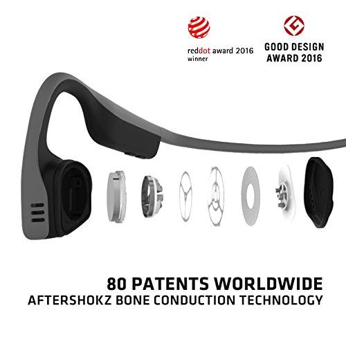 Aftershokz trekz Titanium Bone Conduction Kopfhörer Audio Bluetooth Bone Conduction für Sport mit Mikrofon - 2
