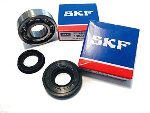 SKF C4 Kurbelwellenlager Set mit Simmerringen Hi-Quality Metallkäfig Yamaha Aerox