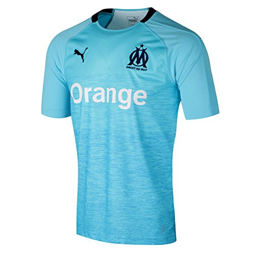 Puma Olympique de Marseille Third Shirt Original SS Maillot Homme, NRGY Turquoise-Peacoat, FR : S (Taille Fabricant : S)