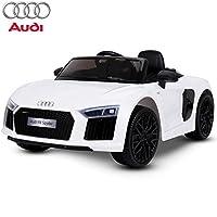 L'auto elettrica Audi R8 Spyder per bambini è la baby car adatta per dare forti emozioni fin dall'infanzia ai vostri piccoli. Con un design elegantemente sportivo, l'auto raggiunge una velocità massima di 5Km/h in modo da avere sempre una guida sicur...