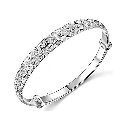 Fablcrew, braccialetto lucido alla moda, decorato con cielo e stelle in argento, per donne, ragazze, gioiello perfetto come regalo