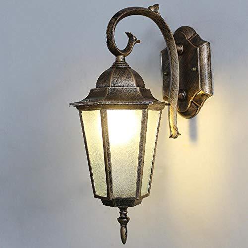 Lampe Wandleuchte Wandlampen Aussenlampe Retro Im Freien Wasserdichte Wandleuchte Wohnzimmer Balkon Gang Licht Kreative Einfache Treppe Korridor Kreative Dekorative Gartenlampe @ [Bronz