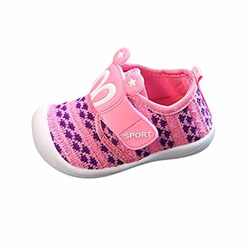 OYSOHE Kleinkind Kinder Kinder Baby Cartoon Star Hasenohren quietschende Einzelne Schuhe Sneaker (16/6Monat, Rosa) (Quietschende Schuhe)