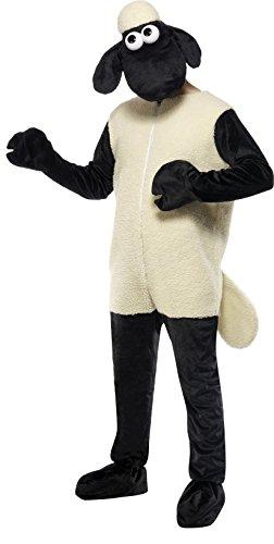 Shaun das Schaf Kostüm mit Jumpsuit und Kopfbedeckung, One (Kostüm Für Erwachsene Schaf)