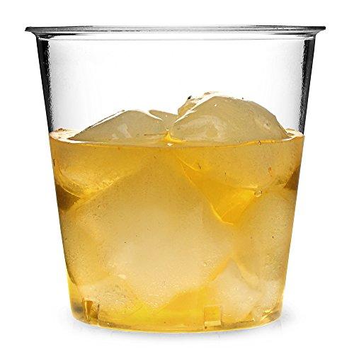 Disposable Plastic Tumblers 10.6oz / 300ml - Set of 50 - Plastic Whiskey Rocks Glasses