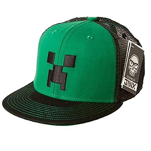 Cooles Minecraft Cap, Creeper Kappe, Baseball-Cap, Basecap, verstellbar (Snapback), hochwertige Verarbeitung