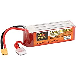 Ballylelly Batería RC ZOP Power 22.2V 4000mAh 65C 6S 1P Lipo Batería XT60 Plug para RC Drone Barco