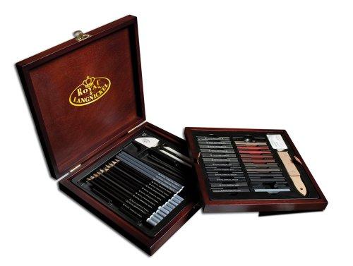 Royal & Langnickel - Juego de lápices de dibujo (caja de madera)