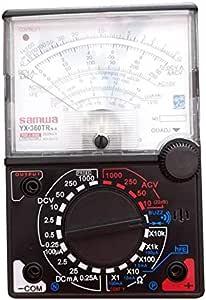 Yx 360trn Analoges Multimeter Kunststoff Messgerät Schale Ac Dc Volt Ohm Stromprüfung Mutimeter Elektrischer Zeiger Multitester Schwarz Baumarkt