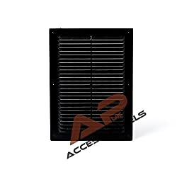 """Air Vent Grille Cover Black 175x240mm (6.9x9.4"""") Ventilation Grill Cover"""