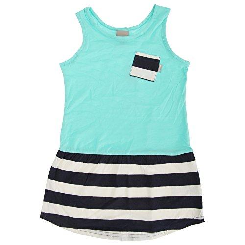 Bench Mädchen Dramatic Marl Sommerkleid mit Kontrast-Tasche (116 (5-6 Jahre)) (Türkis/Marineblau) -