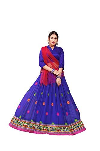 SOURBH Navratri Kutch Embroidered Readymade Lehenga Choli (N219_Blue,Free Size)