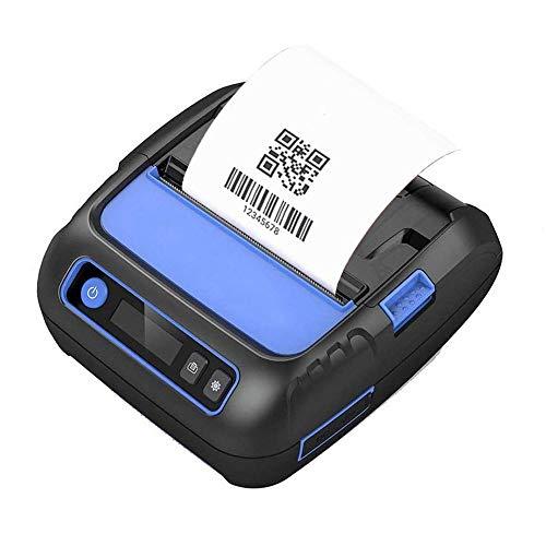 GXWLWXUP 80mm Thermo-Belegdrucker, 3 in 1 drahtloser Bluetooth Versand Label Maker Drucker mit 2600 mAh Akku Unterstützte ESC/POS