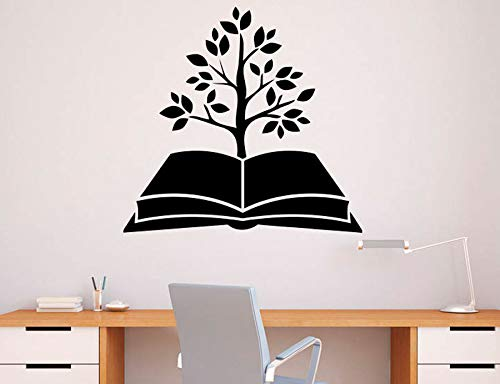 Albero Libro Adesivo Libreria Vinile Adesivo Educazione scolastica Home Art Design Murales Modern Room Interior Decoration 44X42CM