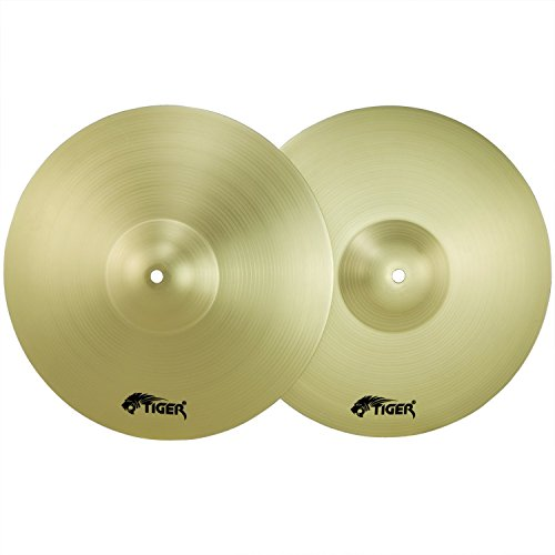 "Tiger Cymbal Set - 16"" Crash, 20"" Ride & 14"" Hi-Hats - Drum Cymbal Pack"