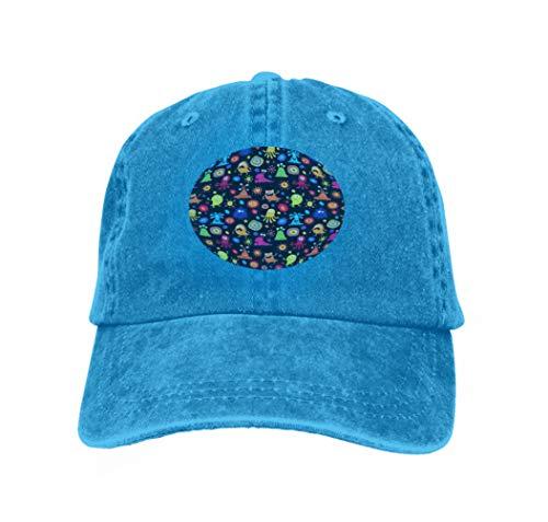 Adjustable Trucker Hats stylish Children s Pattern Monsters Geometric Blue ()